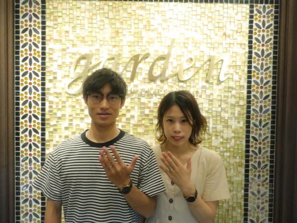 FORMIAの婚約指輪・OCTAVEの結婚指輪 大阪府羽曳野市