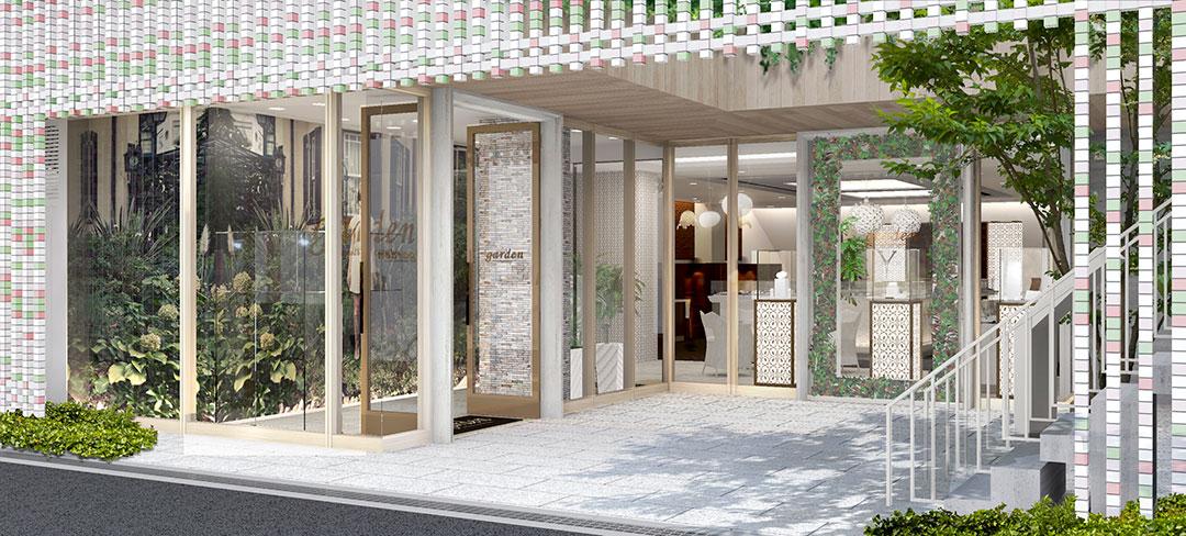 結婚婚約指輪専門大阪茶屋町のセレクトショップgarden梅田の玄関の画像