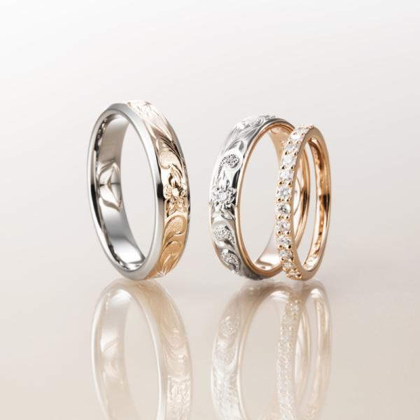 Makanaマカナのエタニティリングと結婚指輪のセットリングで大阪・梅田・神戸・京都の正規取扱店