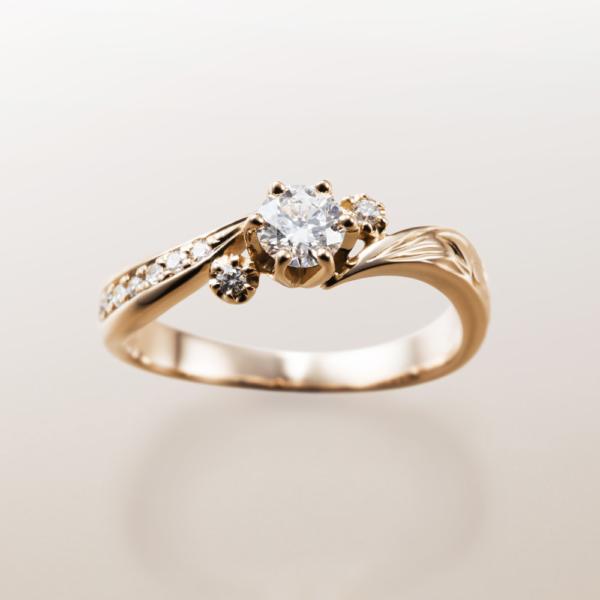 Makanaマカナの婚約指輪でME-2のピンクゴールドの大阪・梅田・神戸・京都の正規取扱店