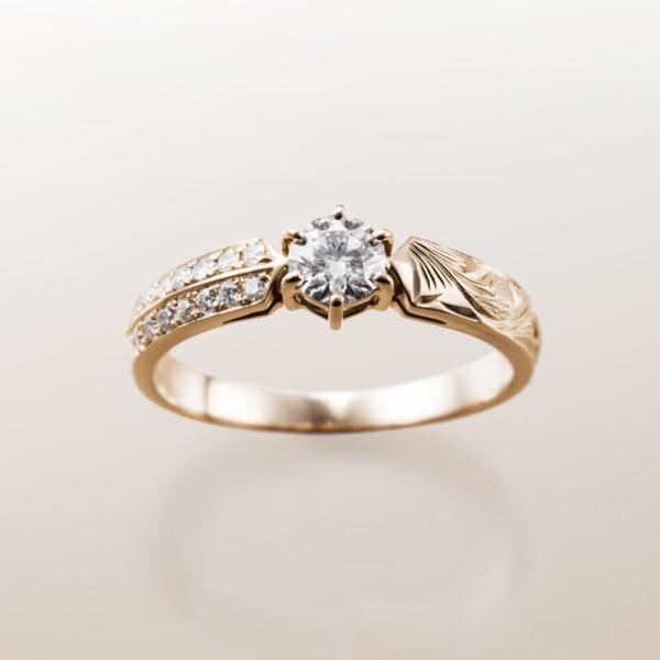 Makanaマカナの婚約指輪でME-3のピンクゴールドの大阪・梅田・神戸・京都の正規取扱店