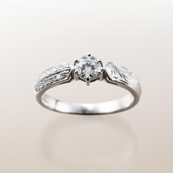 Makanaマカナの婚約指輪でME-3のプラチナの大阪・梅田・神戸・京都の正規取扱店