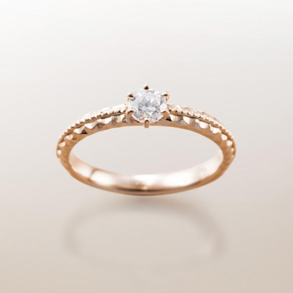 Makanaマカナの婚約指輪でME-4PGピンクゴールドの大阪・梅田・神戸・京都の正規取扱店