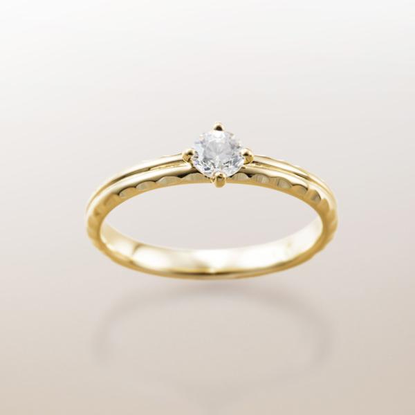 Makanaマカナの婚約指輪でME-5のYGイエローゴールドの大阪・梅田・神戸・京都の正規取扱店