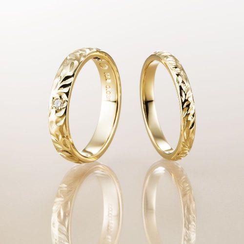 Makanaマカナの結婚指輪でYGのマカナカットの2.8mm