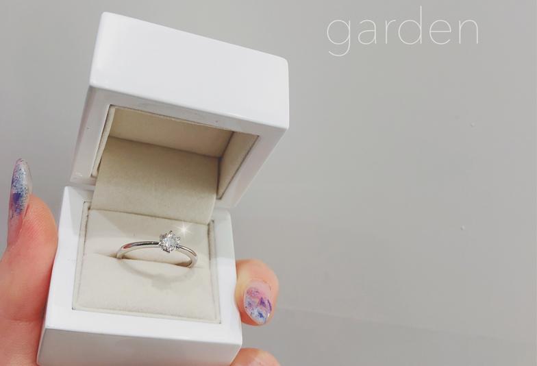 後から選べる婚約指輪ダミーの指輪はgarden梅田