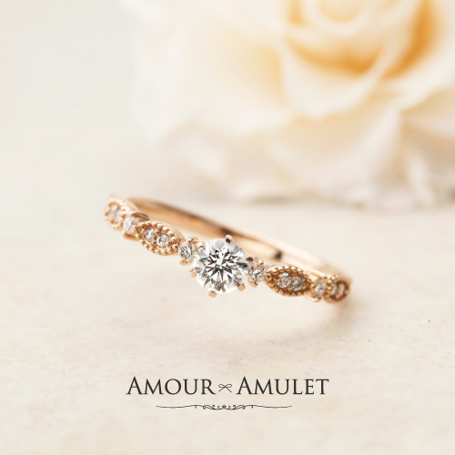 アンティーク調婚約指輪はガーデン梅田のAMOURAMULET