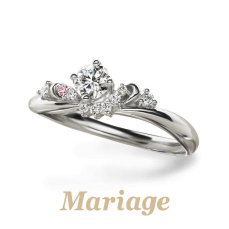 大阪梅田ゴージャスのピンクメレダイヤ婚約指輪は関西最大級のgarden