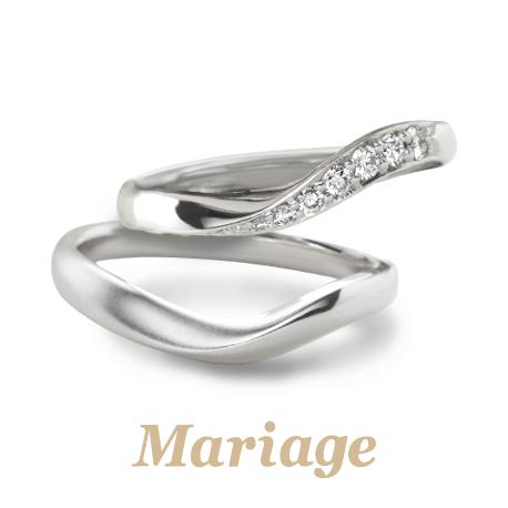 ゴージャスできれいなマリアージュ結婚指輪は大阪梅田garden5