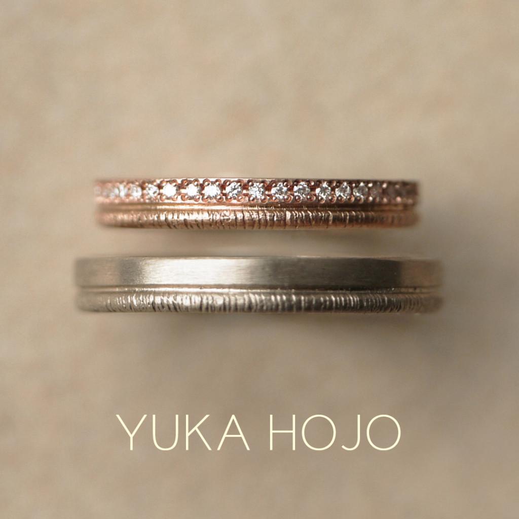 ゴージャスできれいなマリアージュYUKA HOJOHOJO結婚指輪は大阪梅田garden4