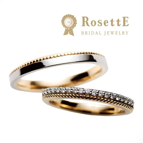 ゴージャスできれいなマリアージュロゼット結婚指輪は大阪梅田garden7