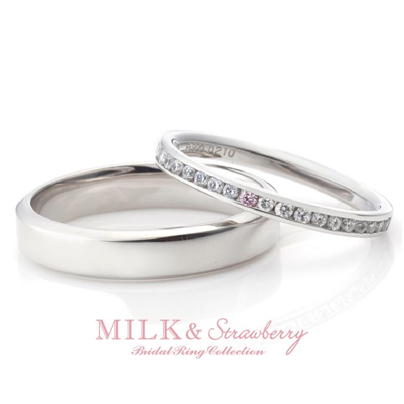 ゴージャスできれいなピンクダイヤモンド結婚指輪は大阪梅田garden