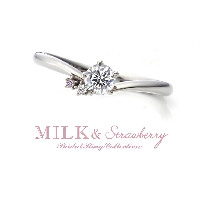 大阪シンプルなピンクダイヤモンド婚約指輪は関西最大級セレクトショップgarden梅田