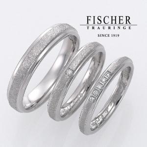 硬い結婚指輪は鍛造作りのフィッシャーのマリッジリング