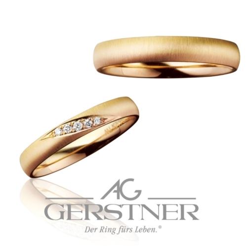 鍛造作りのドイツリングマーブル色の結婚指輪