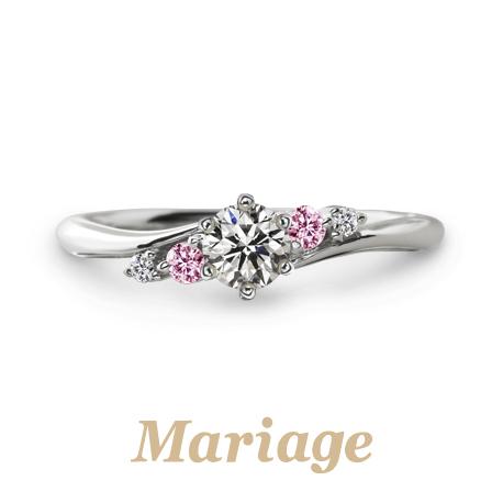 大阪梅田でかわいいピンクダイヤ婚約指輪は関西最大級指輪専門店garden