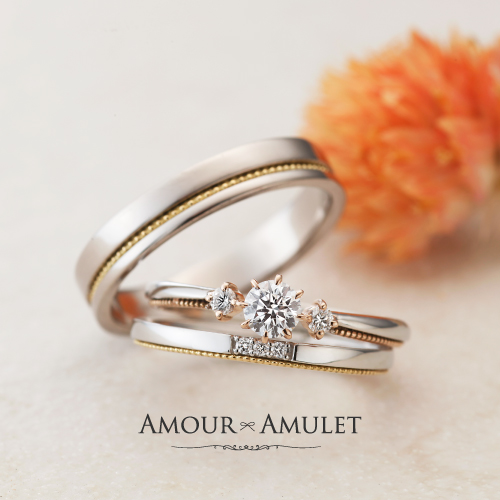 大阪梅田でかわいい2色のコンビ婚約指輪は関西最大級指輪専門店garden