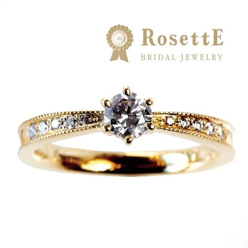 アンティーク調婚約指輪はロゼット