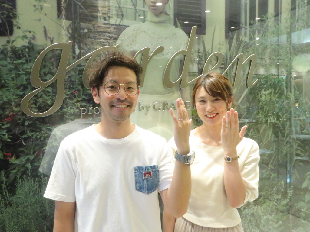 ロゼットの婚約指輪と結婚指輪の大阪取扱店garden梅田