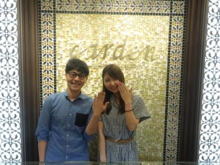 オシャレ指輪 Rosette(ロゼット)の結婚指輪 大阪高槻市
