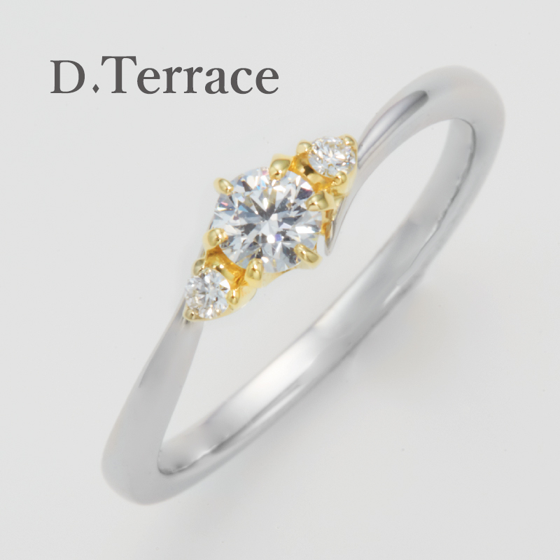 DTerraceの大阪梅田の婚約指輪コンビリング