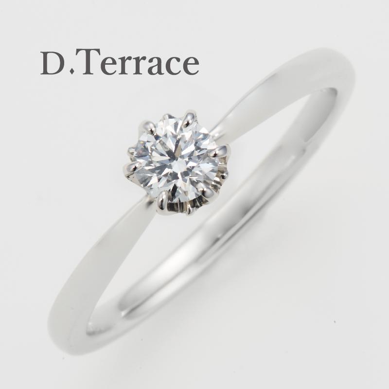 DTerrace大阪梅田のシンプル婚約指輪マリア