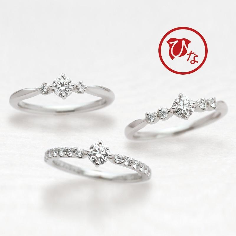 幅が広い太い和風ブラインド婚約指輪は関西最大級ブライダルリング専門店大阪のgarden梅田