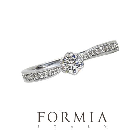 ウェーブのキレイな婚約指輪は大阪garden梅田