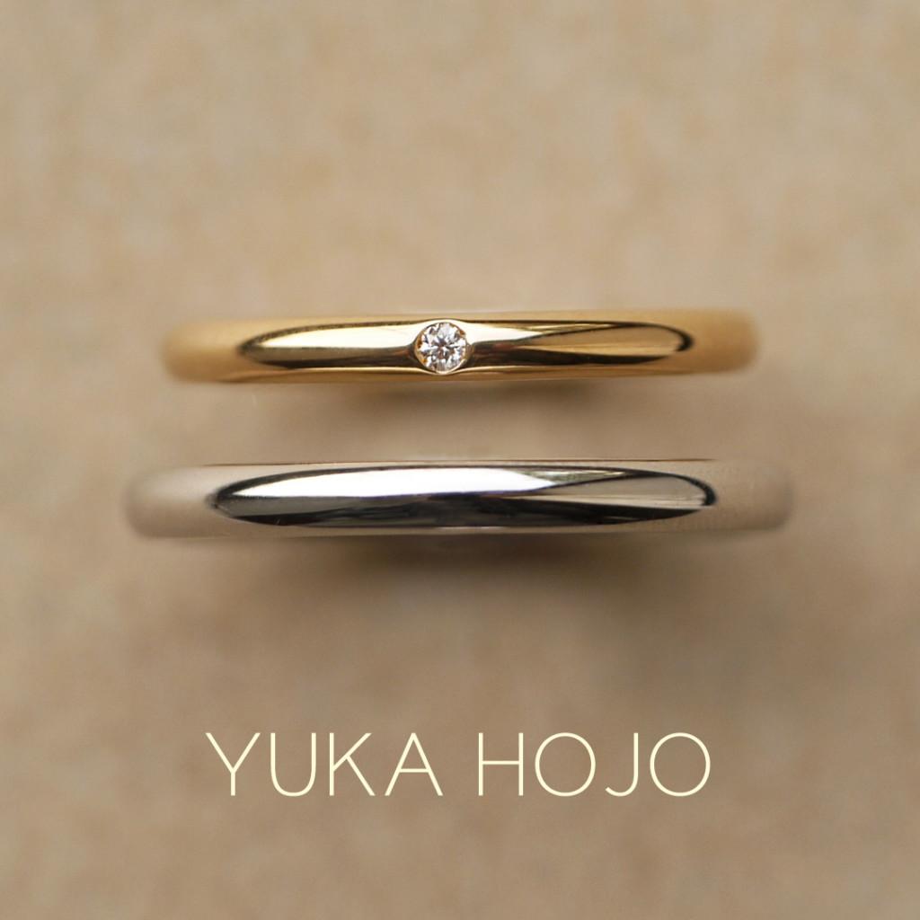 シンプルなユカホウジョウの結婚指輪が大阪梅田garden
