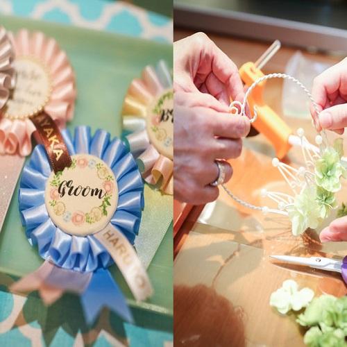 結婚式に向けてDIY体験リングピローやロゼットを自分で作ろう