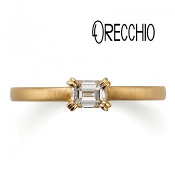 幅が広い太いオレッキオ婚約指輪は関西最大級ブライダルリング専門店大阪のgarden梅田