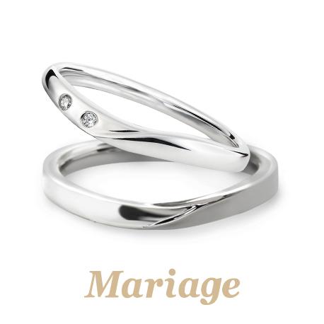 シンプルなMariageの結婚指輪は大阪梅田garden