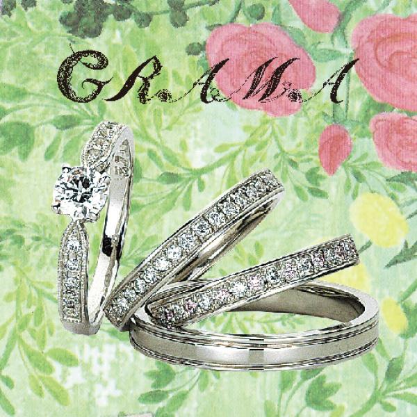 幅が広い太いきらきら婚約指輪は関西最大級ブライダルリング専門店大阪のgarden梅田