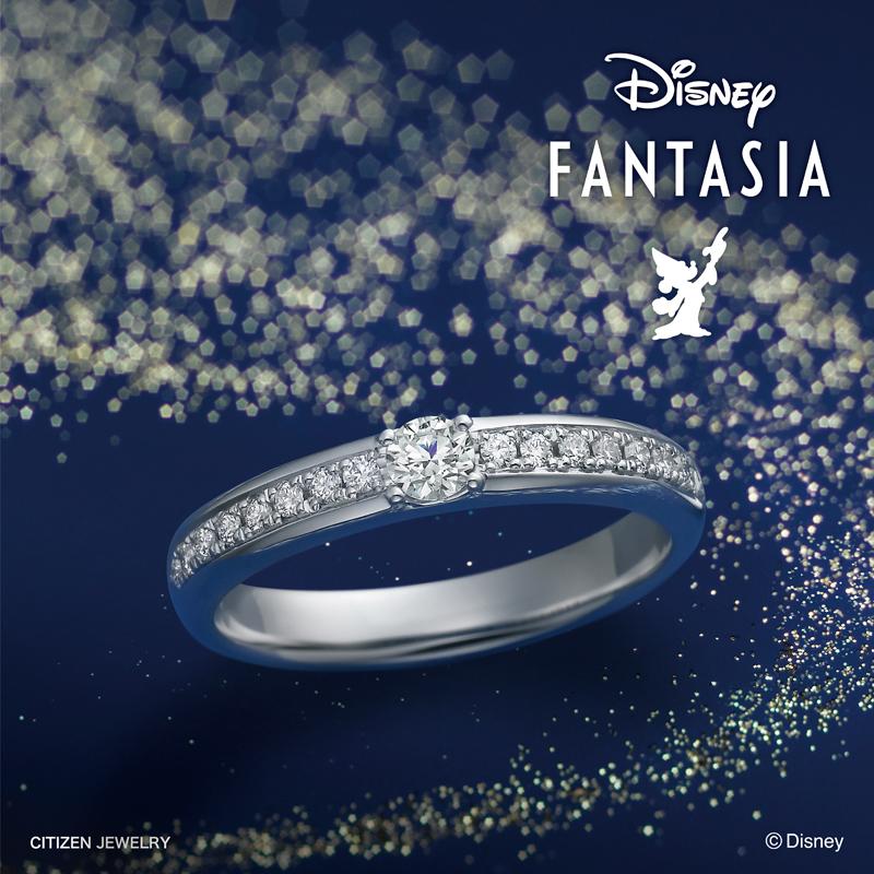 幅が広い太いディズニー婚約指輪は関西最大級ブライダルリング専門店大阪のgarden梅田