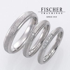 幅が広く太いFISCHER結婚指輪は関西最大級ブライダルリングセレクトショップ大阪のgarden梅田