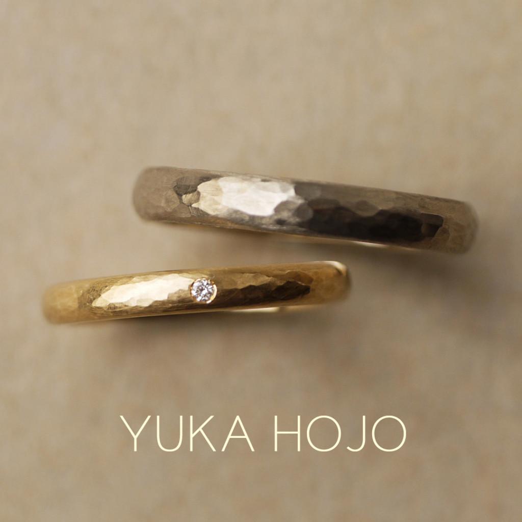 幅が広く太いユカホウジョウ結婚指輪は関西最大級ブライダルリングセレクトショップ大阪のgarden梅田