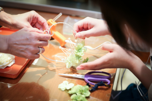 結婚式に向けてDIY体験リングピローやロゼットを自分で作ろう1
