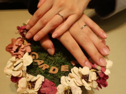 FISCHERとOCTAVEの結婚指輪 大阪府大阪市