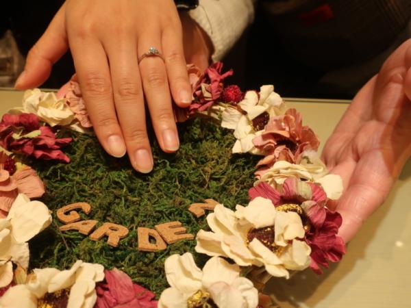 gardenオリジナルの婚約指輪 大阪府茨木市
