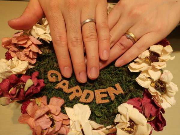 BAUMの婚約指輪とYUKAHOJOの結婚指輪 大阪府柏原市