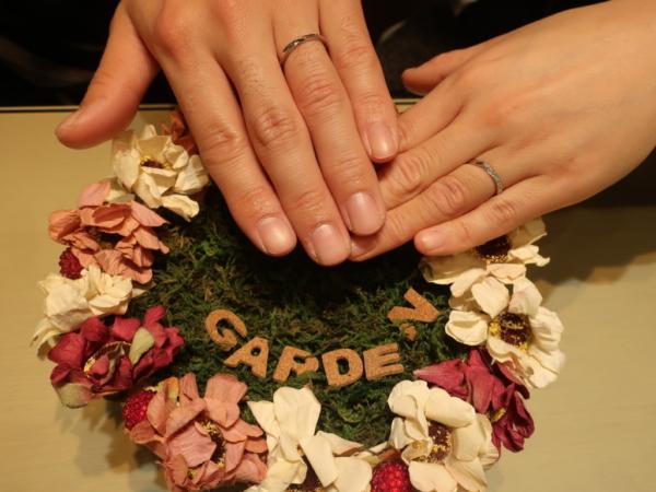 pink dolphin diamondの結婚指輪