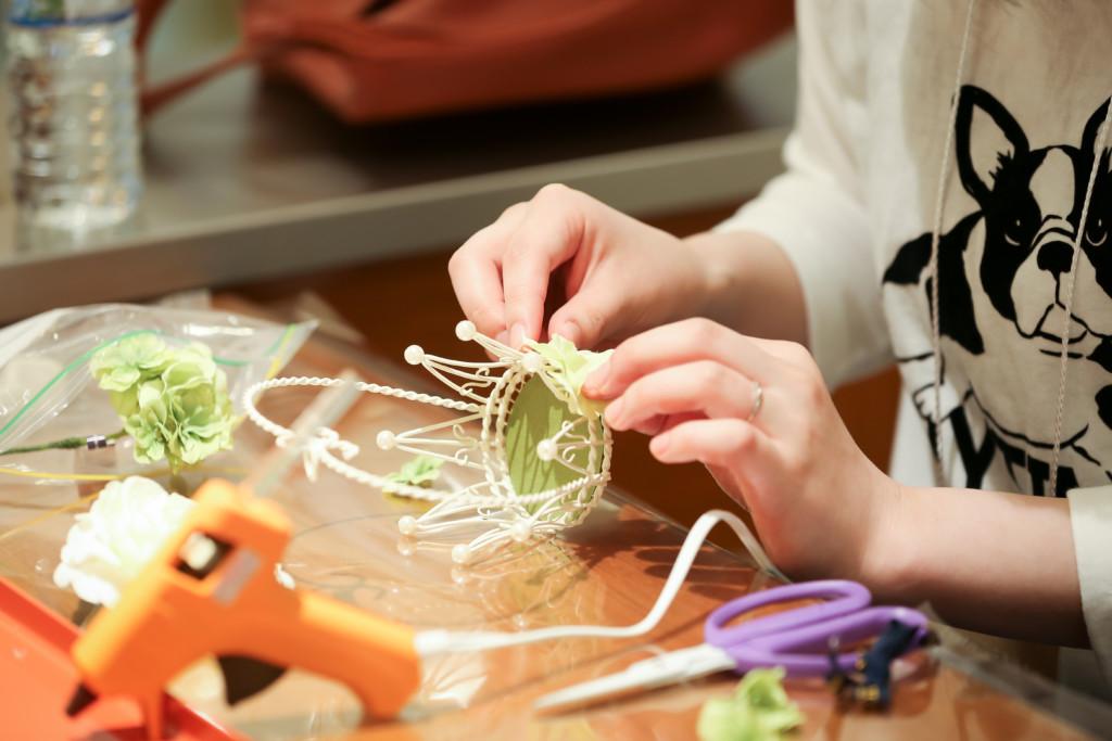 gardenフェスタ手作りリングピロー