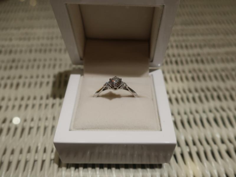シンデレラの指輪でプロポーズの画像