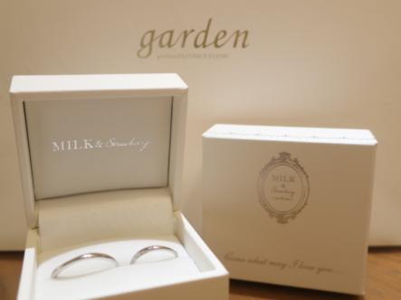 MILK&STRAWBERRYの結婚指輪 滋賀県甲賀市