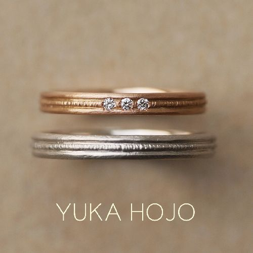 おしゃれな結婚指輪のYUKAHOJOでカーム