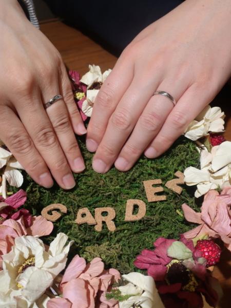 ミンサーリングの結婚指輪