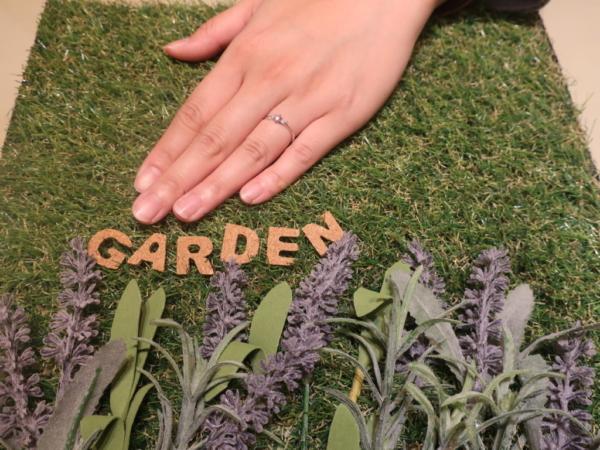 gardenオリジナルの婚約指輪