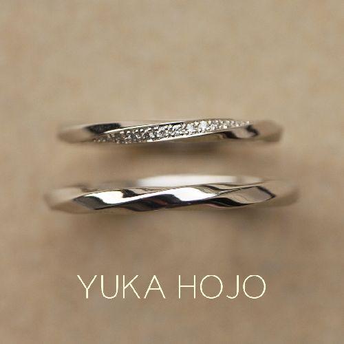 YUKAHOJO結婚指輪おしゃれレイオブライト