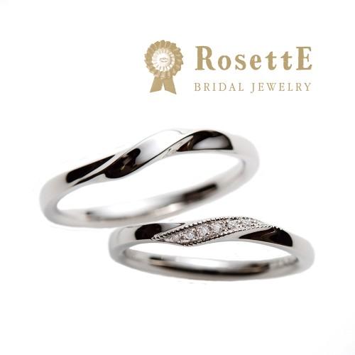 結婚指輪おしゃれロゼット指輪