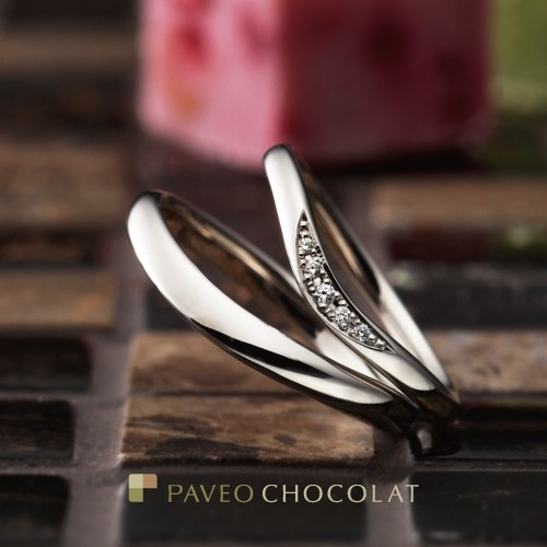 パヴェオショコラ結婚指輪フルラージュ